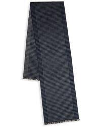 Saks Fifth Avenue - Checked Silk Scarf - Lyst