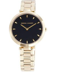 Rebecca Minkoff Goldtone Stainless Steel Bracelet Watch - Multicolour
