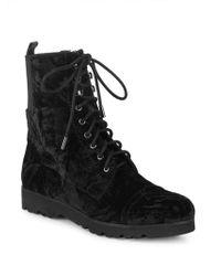 Donald J Pliner - Carmen Velvet Combat Boots - Lyst