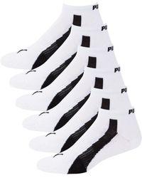 PUMA Men's 6-pair Low-cut Socks - White Grey - Multicolour