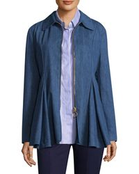 Maggie Marilyn George Iii Denim Ruffle Jacket - Blue