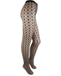 a3c9de948 Wolford - Tina Fishnet Patterned Tights - Lyst