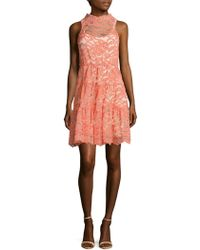 ERIN Erin Fetherston - Posie Scalloped Lace Dress - Lyst