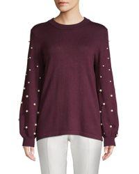 Karl Lagerfeld - Embellished Bishop-sleeve Sweater - Lyst