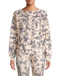 Wildfox Women's Camouflage Raglan-sleeve Sweatshirt - Nude Camo - Size Xs - Multicolor