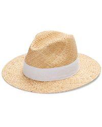 Saks Fifth Avenue Raffia Panama Hat - Natural