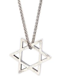Perepaix - Sterling Silver Oriental Star Pendant Necklace - Lyst