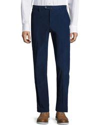PT01 Textured Slim-fit Pants - Brown