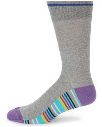 Saks Fifth Avenue - Multicolored Stripe Crew Socks - Lyst