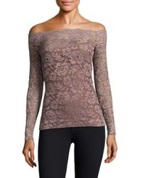 L'Agence - Heidi Off-the-shoulder Lace Top - Lyst