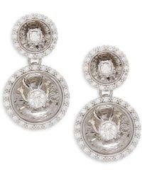 Plevé - Aura 14k White Gold & Diamond Double Drop Earrings - Lyst