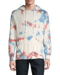 Trunks Surf & Swim Men's Tie-dyed Terry Hoodie - Coral - Size M - Multicolor
