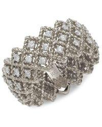 Roberto Coin Women's 18k White Gold & Diamond Ring - Size 6.5 - Metallic