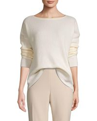 Saks Fifth Avenue Ribbed Cashmere Sweater - Black