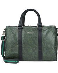 Robert Graham Paisley-print Faux Leather Duffle Bag - Green