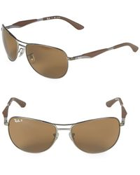 Ray-Ban 59mm Classic Polarized Aviator Sunglasses - Multicolor