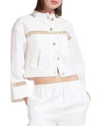 STAUD Women's Willow Cropped Jacket - White - Size S