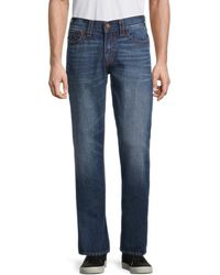 True Religion Men's Ricky Big T Relaxed-fit Straight Jeans - Blue - Size 28