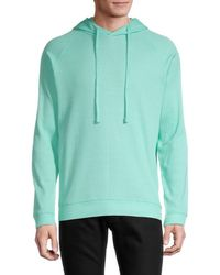 Trunks Surf & Swim Men's Waffle Drawstring Hoodie - Bright Teal - Size S - Multicolor