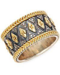 Konstantino 18k Yellow Gold & Sterling Silver Ring - Metallic