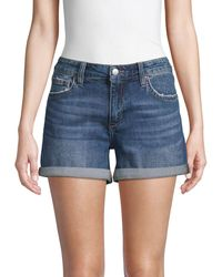 Joe's Jeans Rolled Cuff Denim Shorts - Blue