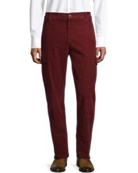 Brunello Cucinelli Men's Corduroy Cargo Pants - Burgundy - Size 48 (30) - Red