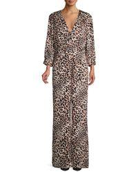 BCBGMAXAZRIA Women's Leopard-print Jumpsuit - Size S - Multicolor