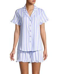 Jane And Bleecker 2-piece Striped Pyjama Set - Blue