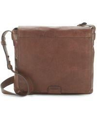 Frye - Foldover Leather Crossbody Bag - Lyst