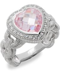 Judith Ripka - Fontaine Crystal & Sapphire Heart Ring - Lyst
