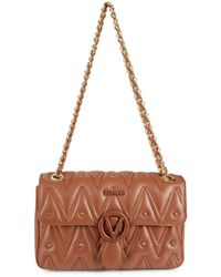 Valentino By Mario Valentino Women's Antoinetted Leather Shoulder Bag - Brandy - Multicolor