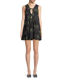 Haute Rogue - Printed Self-tie Tunic Dress - Lyst