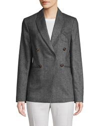Brunello Cucinelli - Double-breasted Wool & Cashmere Pilot Jacket - Lyst