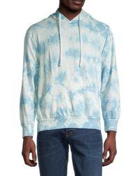 Trunks Surf & Swim Men's Tie-dyed Drawstring Hoodie - Blue - Size M