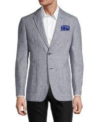 Ben Sherman Textured Wool-blend Sportcoat - Blue