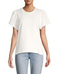 Rebecca Minkoff Greta Short-sleeve Sweatshirt - White
