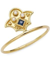 Legend Amrapali Heritage 18k Yellow Gold Sapphire & Diamond Ring - Metallic