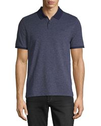 Calvin Klein Short-sleeve Cotton-blend Polo - Blue