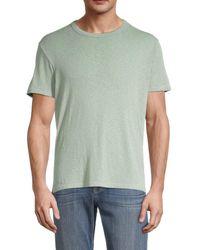 Sol Angeles Men's Crewneck Cotton-blend Tee - Sage - Size M - Green