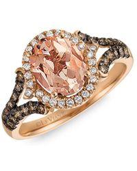 Le Vian - 14k Strawberry Rose Gold®, Peach Morganitetm, Vanilla Diamonds® & Chocolate Diamonds® Ring - Lyst