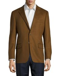 Hickey Freeman Notch Lapel Cashmere Sportcoat - Brown
