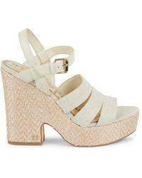 Sam Edelman Women's Liora Strappy Platform Sandals - Natural - Size 9.5