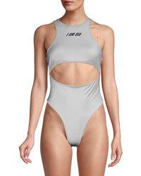 I.AM.GIA Calypso Cutout Bodysuit - Metallic