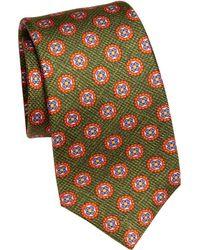 Kiton - Geometric Floral Silk Tie - Lyst