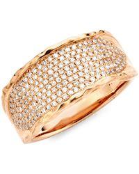 Saks Fifth Avenue 14k Rose Gold Diamond Ring - Multicolour