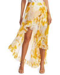 Caroline Constas Adelle Ruffle High-low Skirt - Yellow