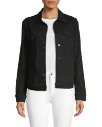 Genetic Denim - Isabella Embroidered Denim Jacket - Lyst