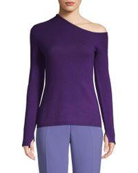 INHABIT - Wool & Cashmere One-shoulder Top - Lyst