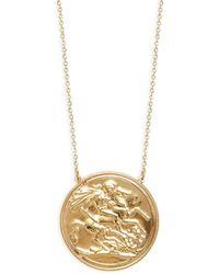 Saks Fifth Avenue 14k Yellow Gold Coin Pendant Necklace - Metallic