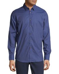 Report Collection - Small Check Button-down Shirt - Lyst